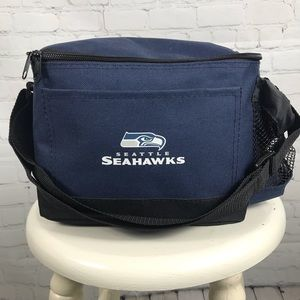 Seattle Seahawks Personal Cooler, with cup holder